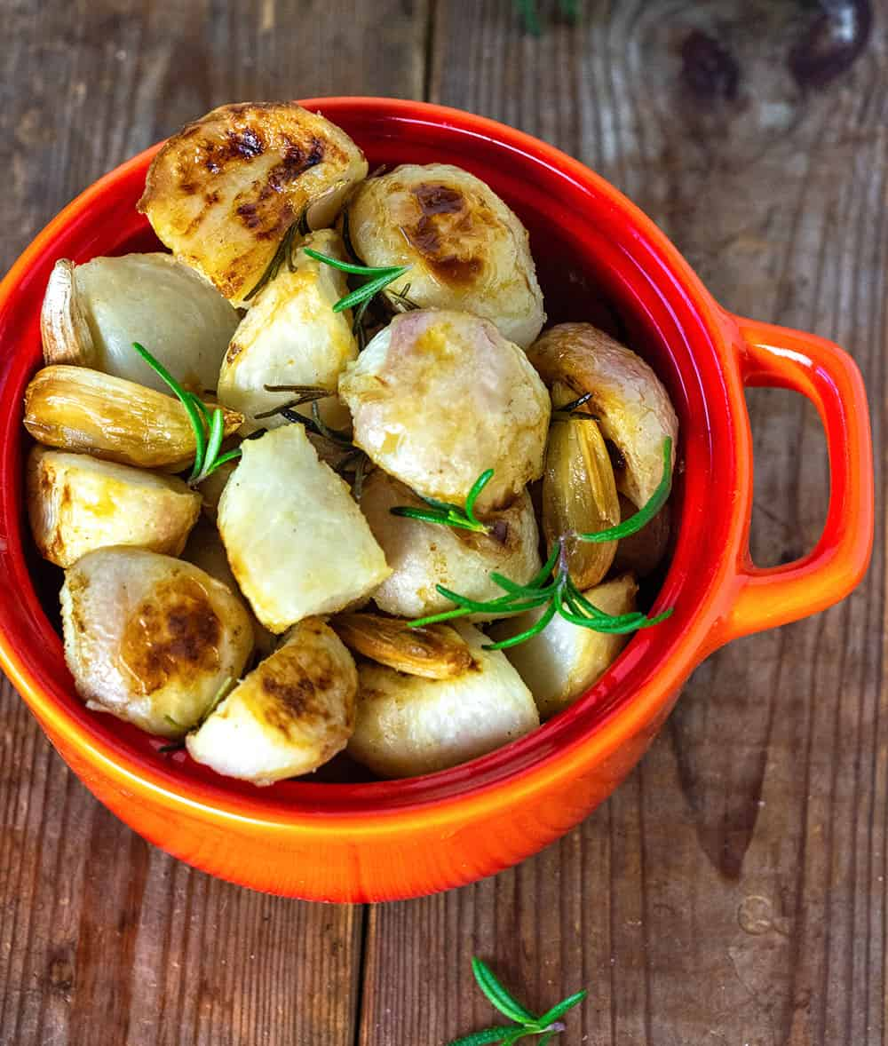 Easy Roasted Turnips With Garlic
