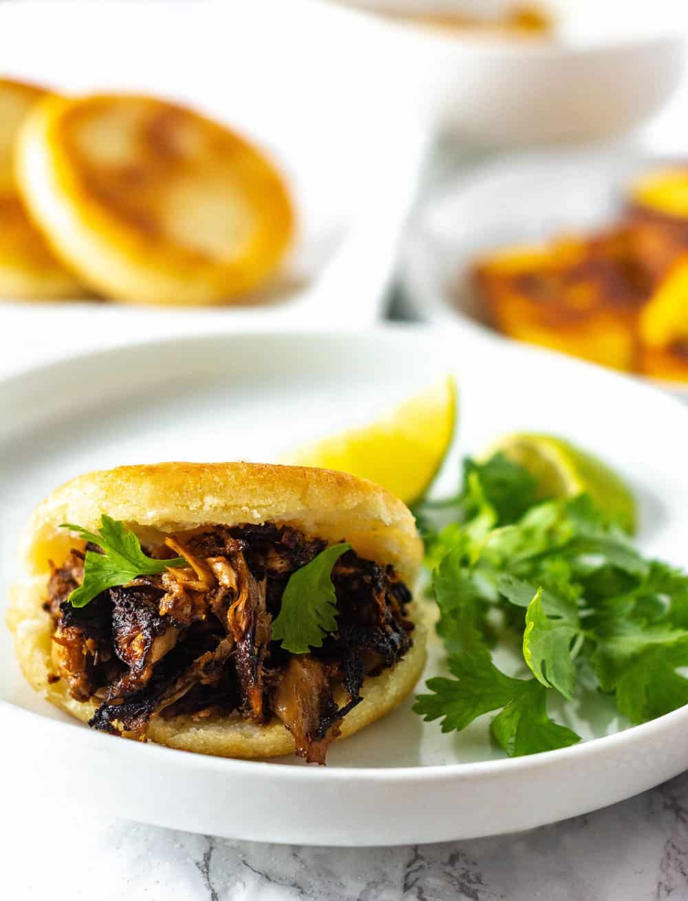 How to Make Arepas With Jackfruit Carnitas