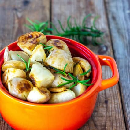 Roasted Turnips With Garlic