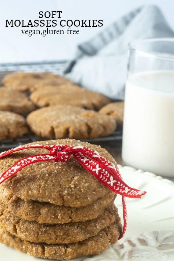 Soft Vegan Molasses Cookies