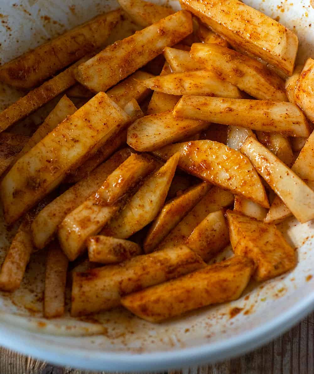 Turnip Fries Prep