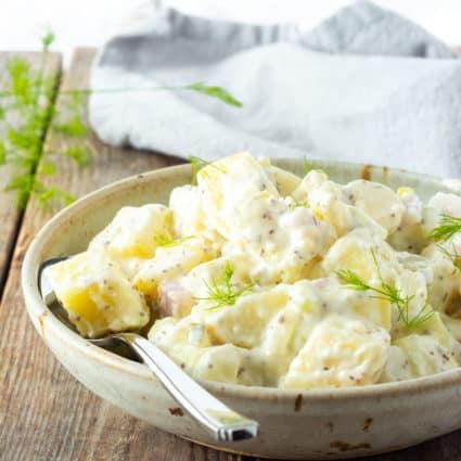 Yellow Yam Salad