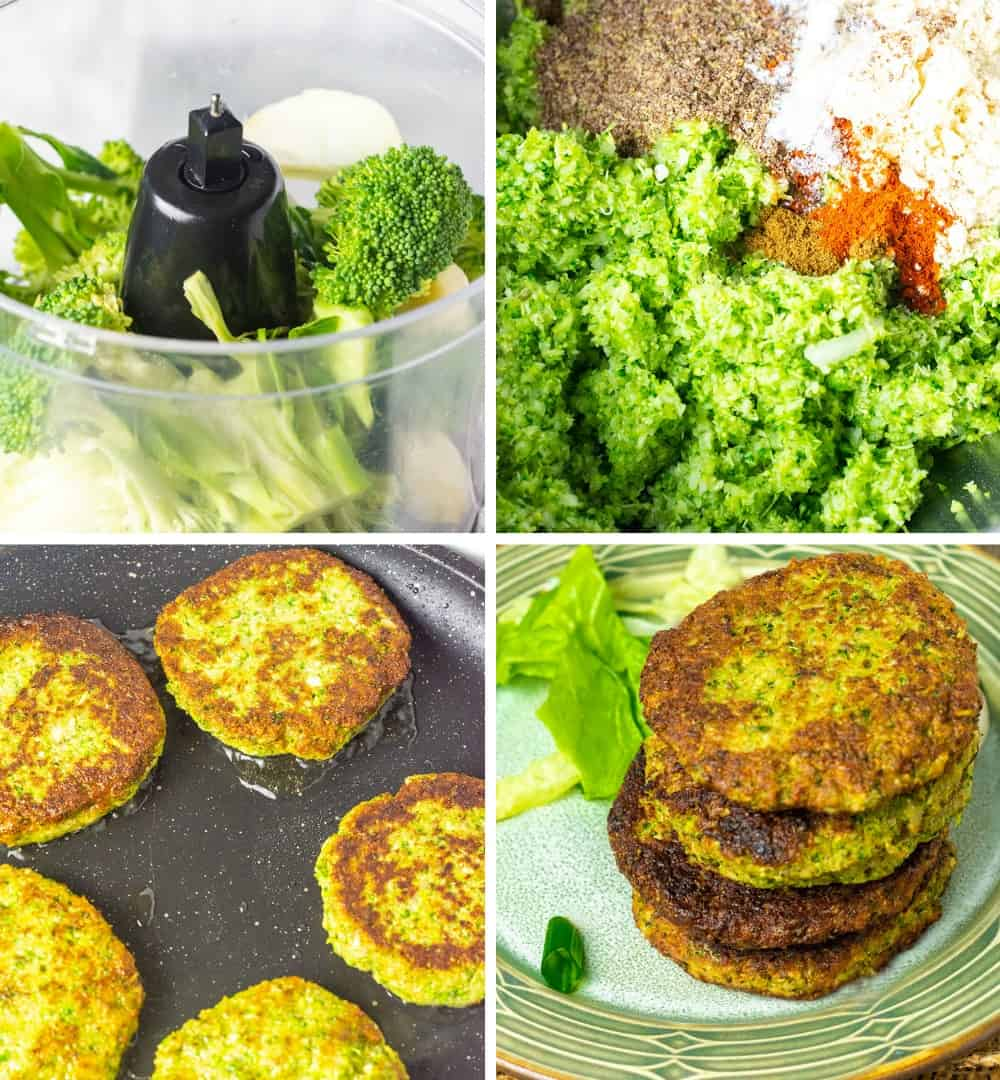 Broccoli Fritters Steps
