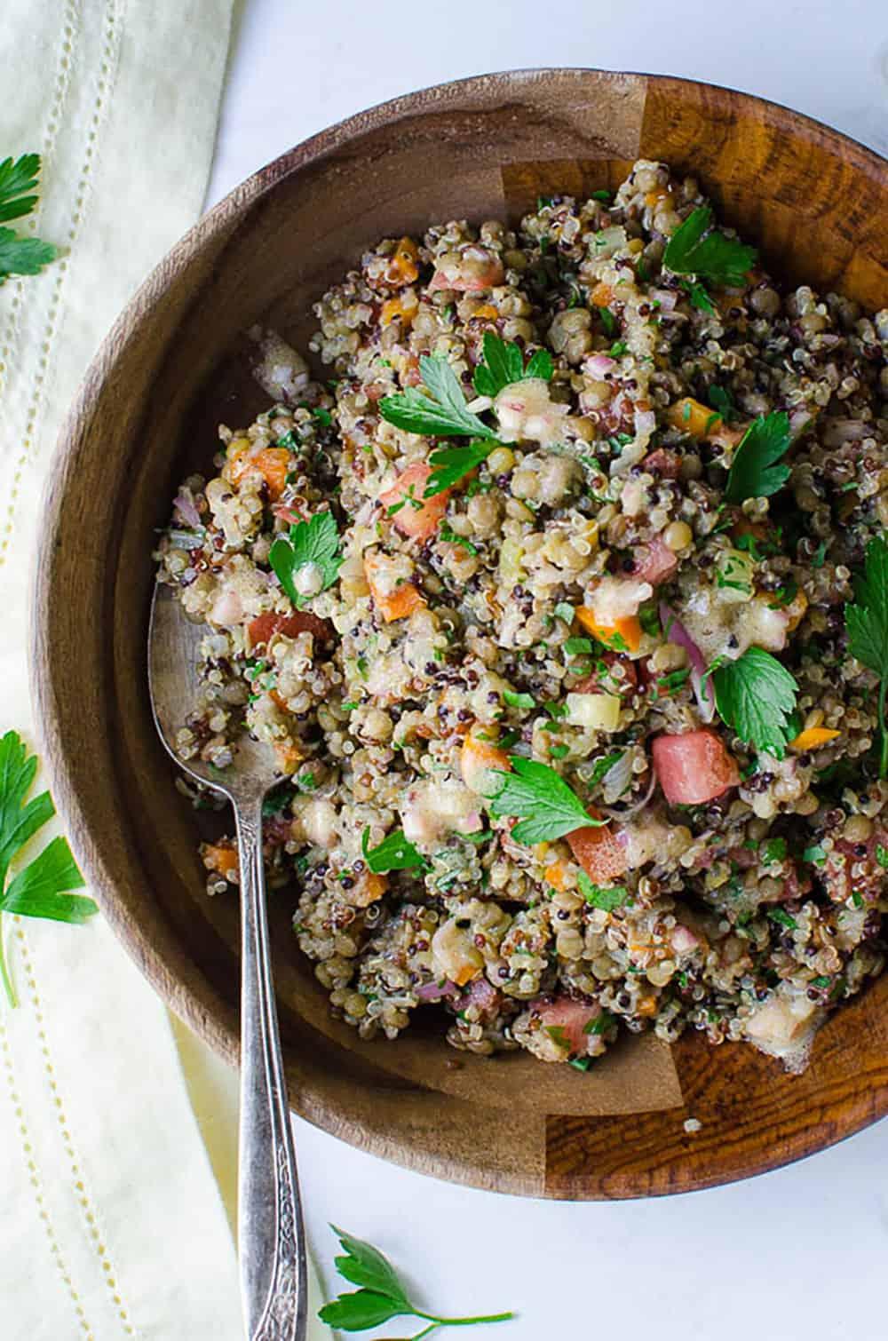 Lentils And Quinoa