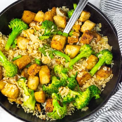 Marinated Tofu Fried Rice