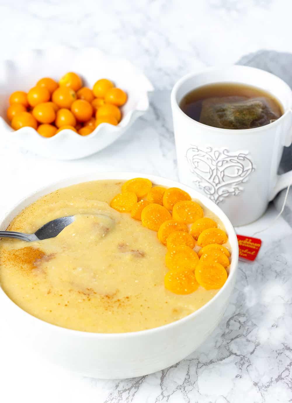 Pressure Cooker cornmeal porridge