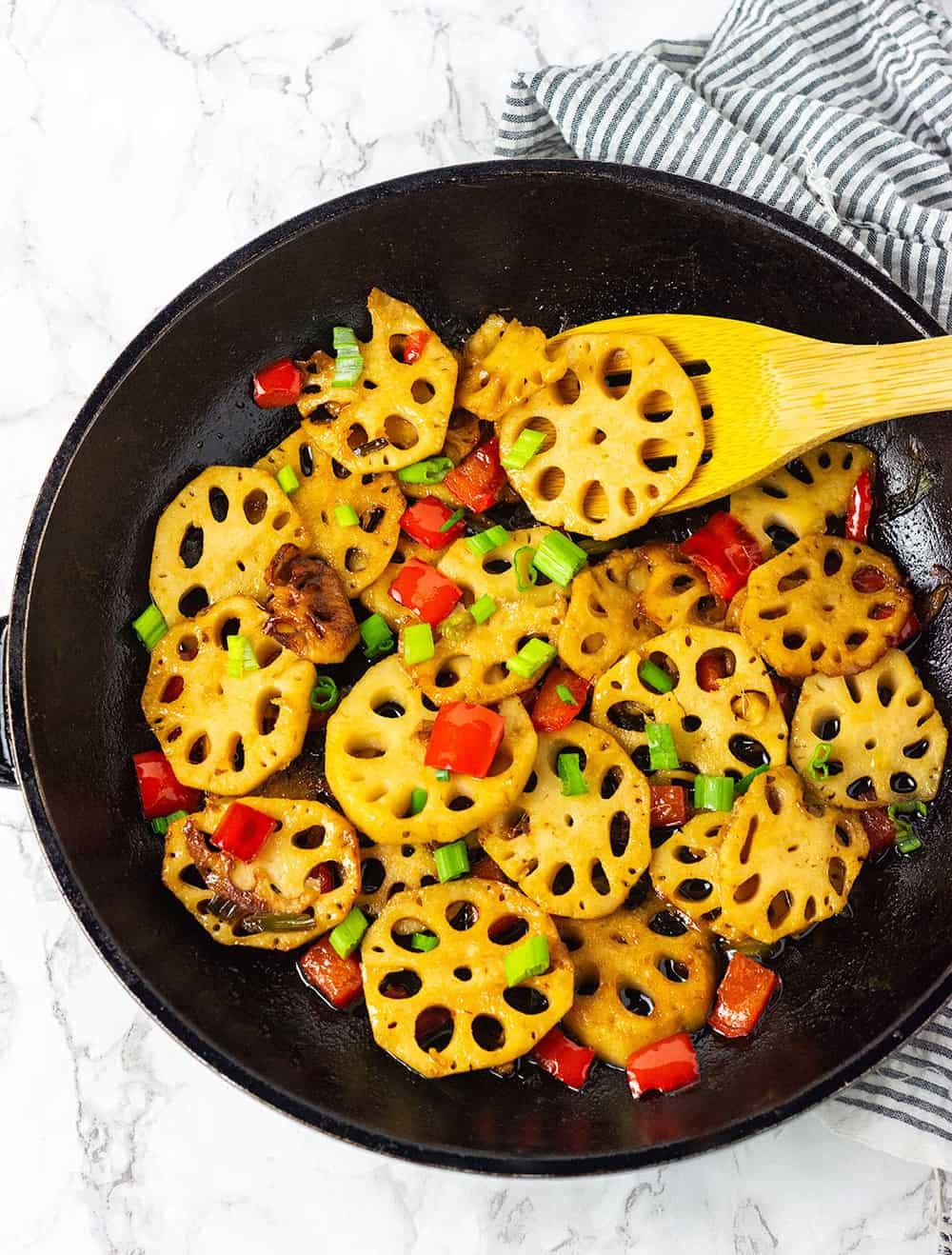 Stir Fry Lotus Root