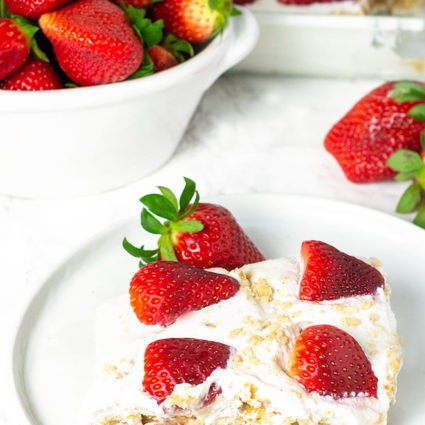 Strawberry Icebox Cake (Vegan, Gluten-Free)