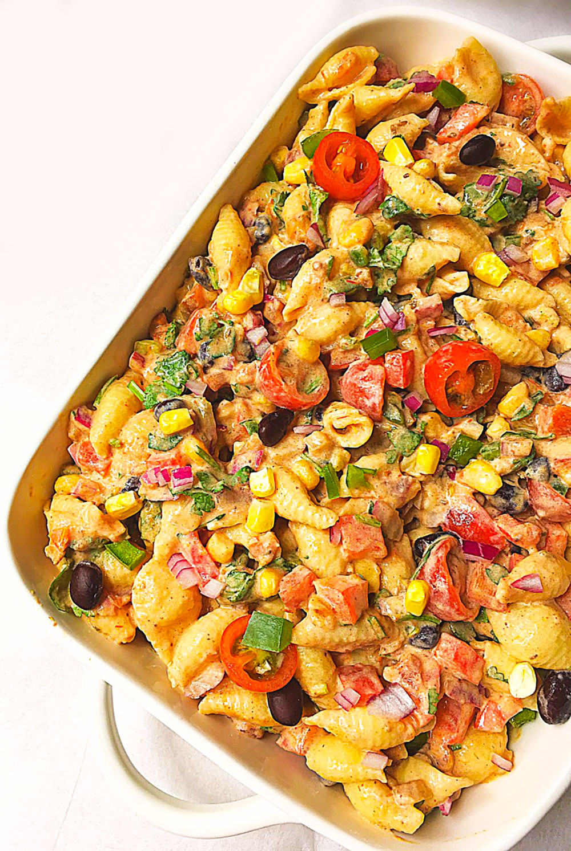 Mexican Bean Pasta Salad