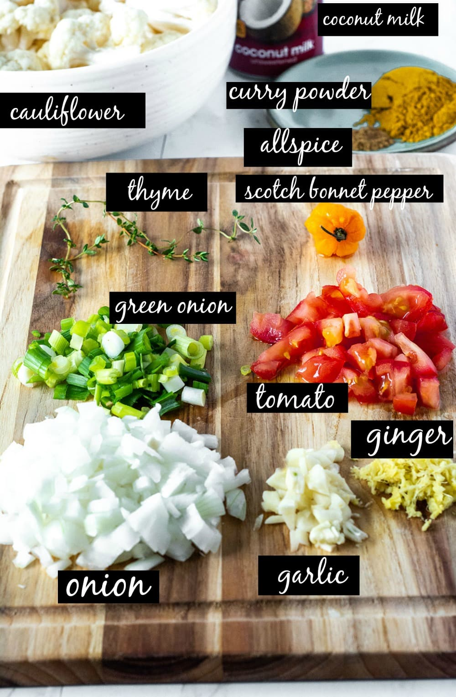 cauliflower curry ingredients