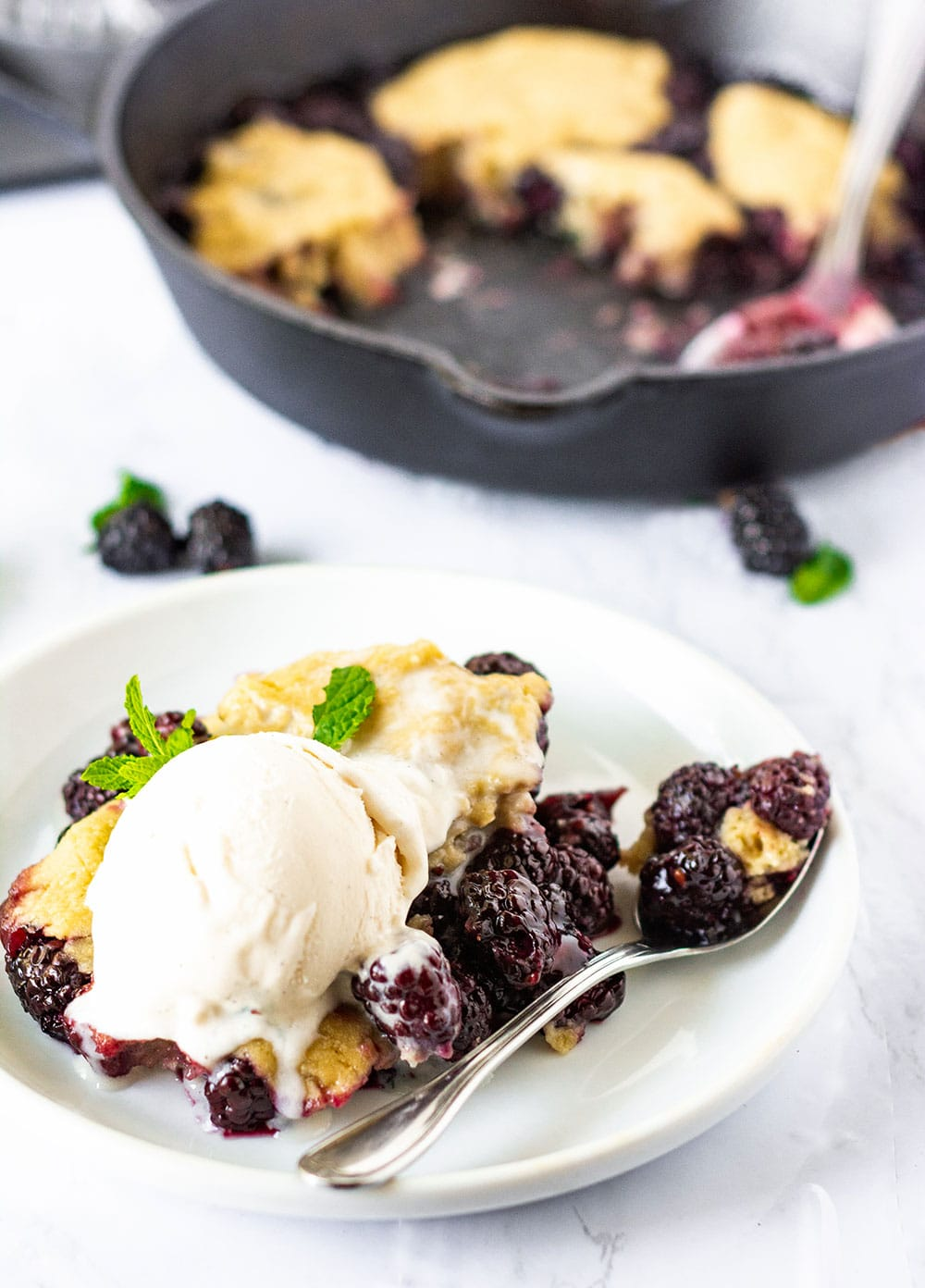 Vegan Blackberry Cobbler