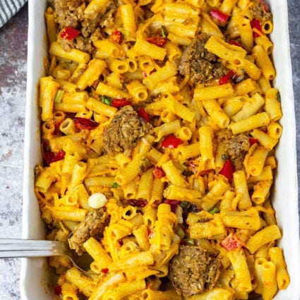 Cajun Vegan Baked Mac And Cheese