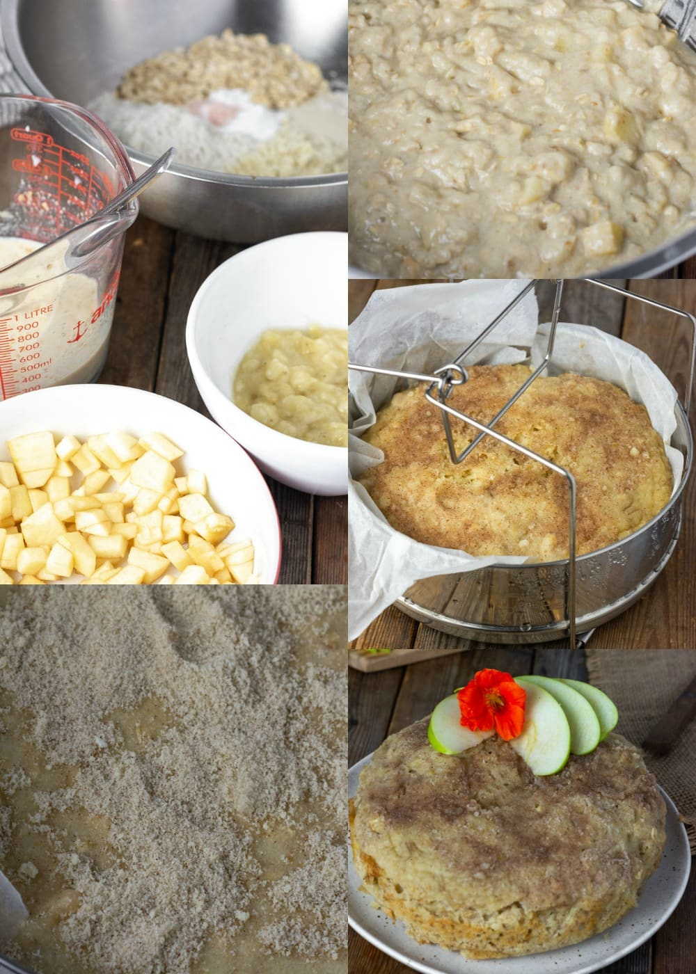 how to make instant pot apple cake step by step images