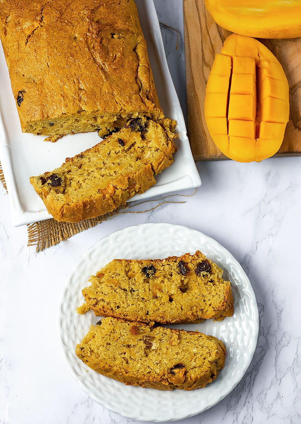 Vegan Gluten-Free Mango Bread