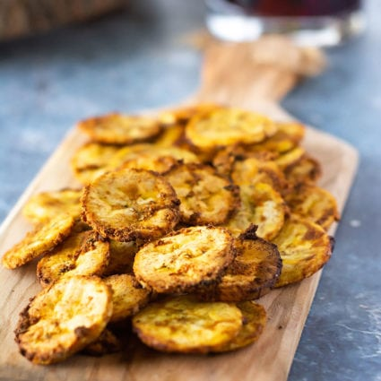 Air Fryer Jerk Plantain Chips