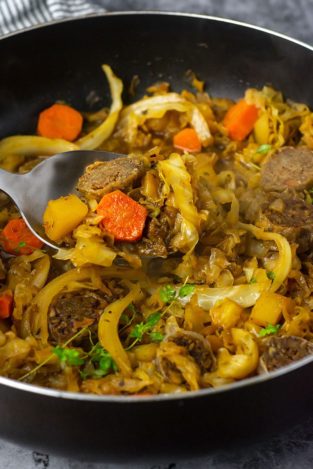 best cabbage and sausage recipe