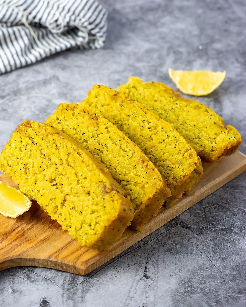 Gluten-Free Vegan Lemon Poppy Seed Bread