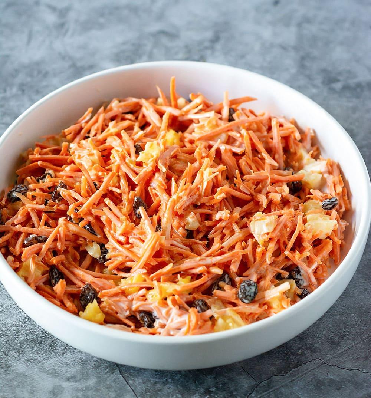 Vegan Carrot Raisin Salad