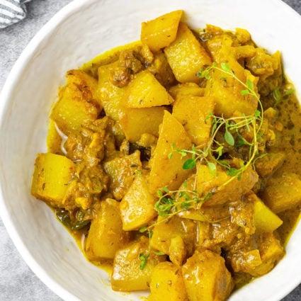 Jamaican Chocho (Chayote) Curry