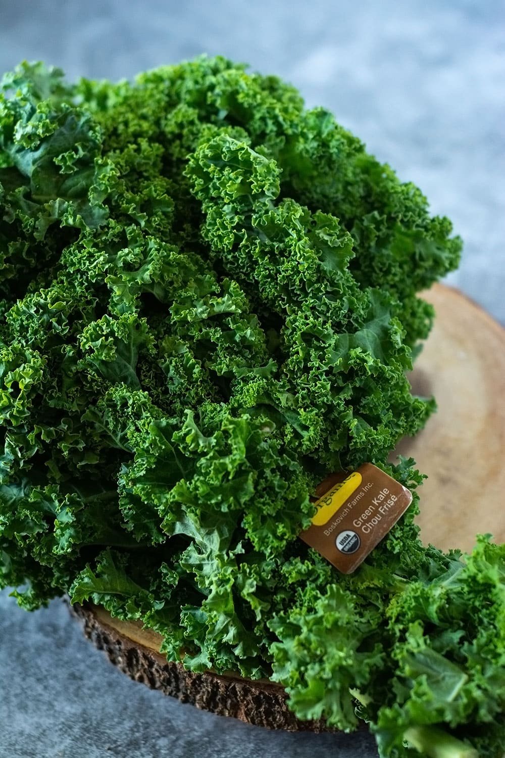 A bunch of kale for air fryer kale chips