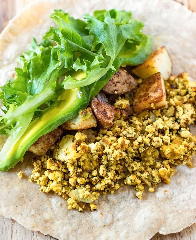 Filling for vegan breakfast burrito
