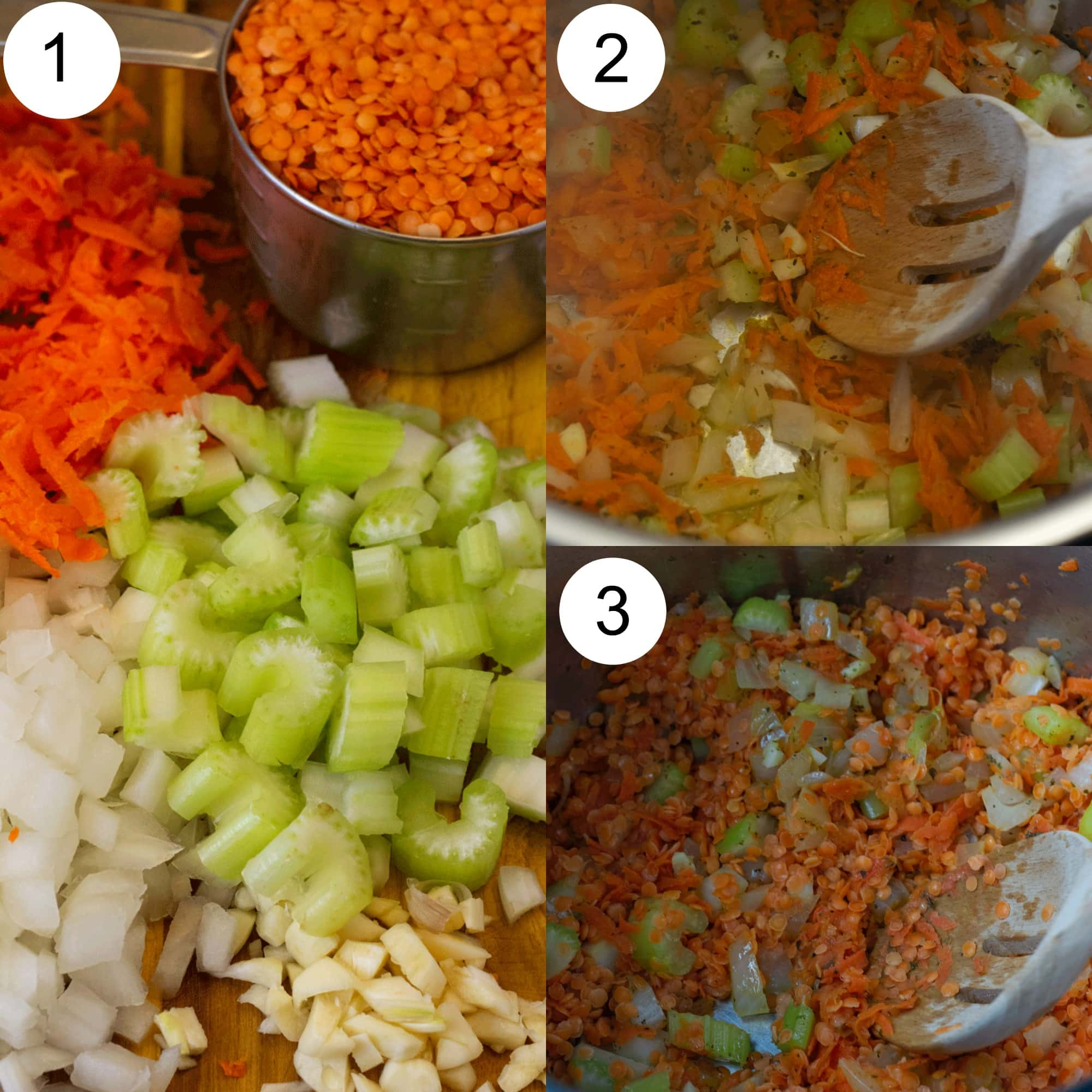 How to make instant pot red lentil soup step by step