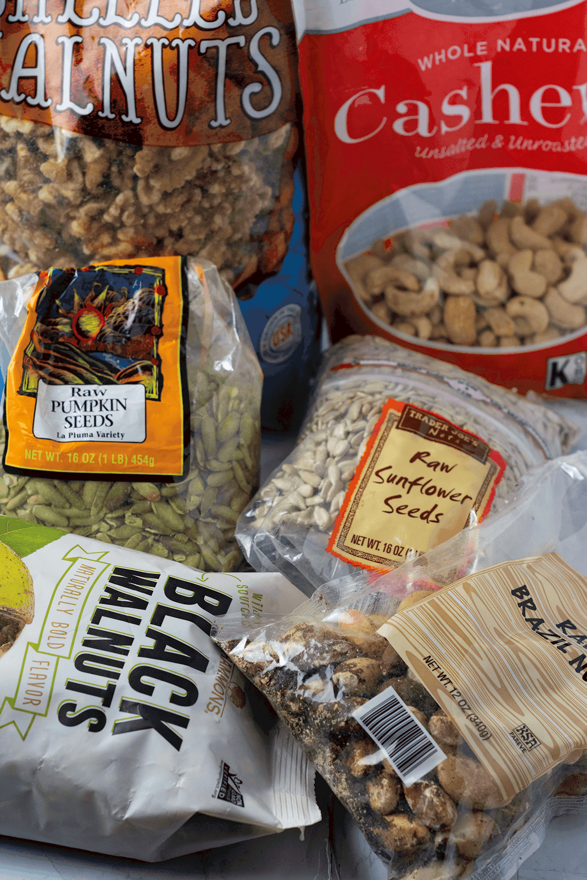 Nuts and seeds for gluten-free shopping