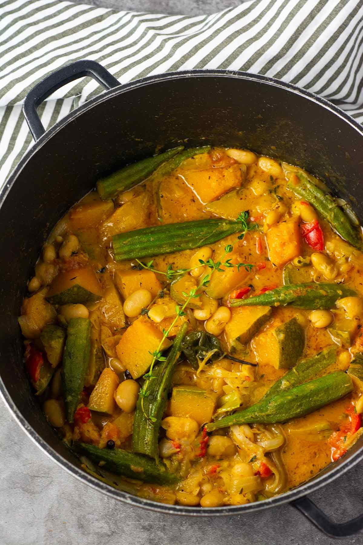 Butter Beans Pumpkin Okra Stew