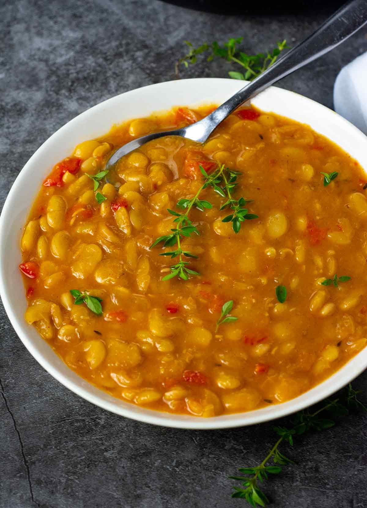 Instant Pot Southern Vegan Butter Beans