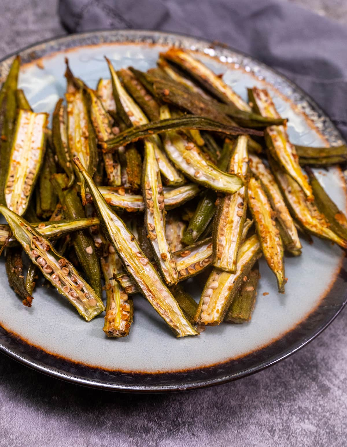 Okra Fries Healthier Steps