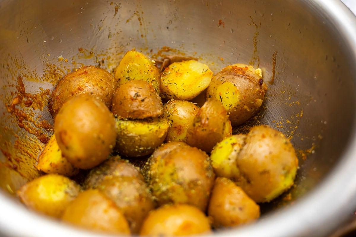 air fryer seasoned potatoes