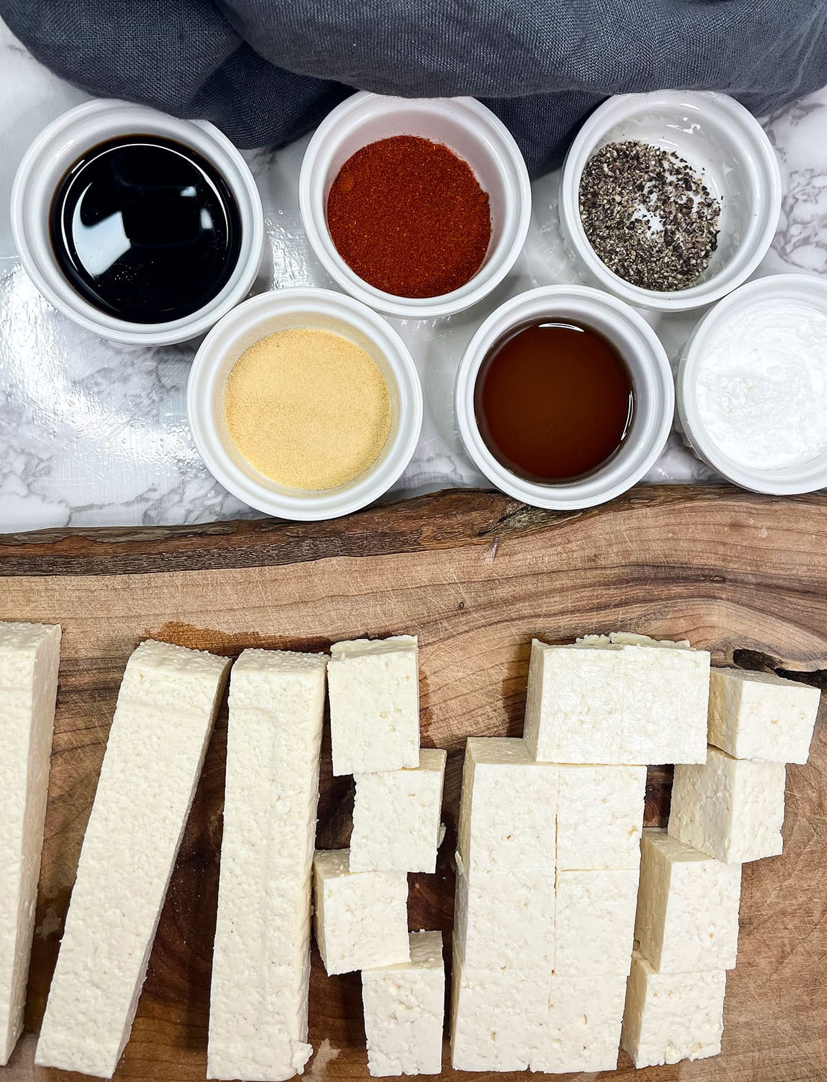 Crispy Baked Tofu ingredients