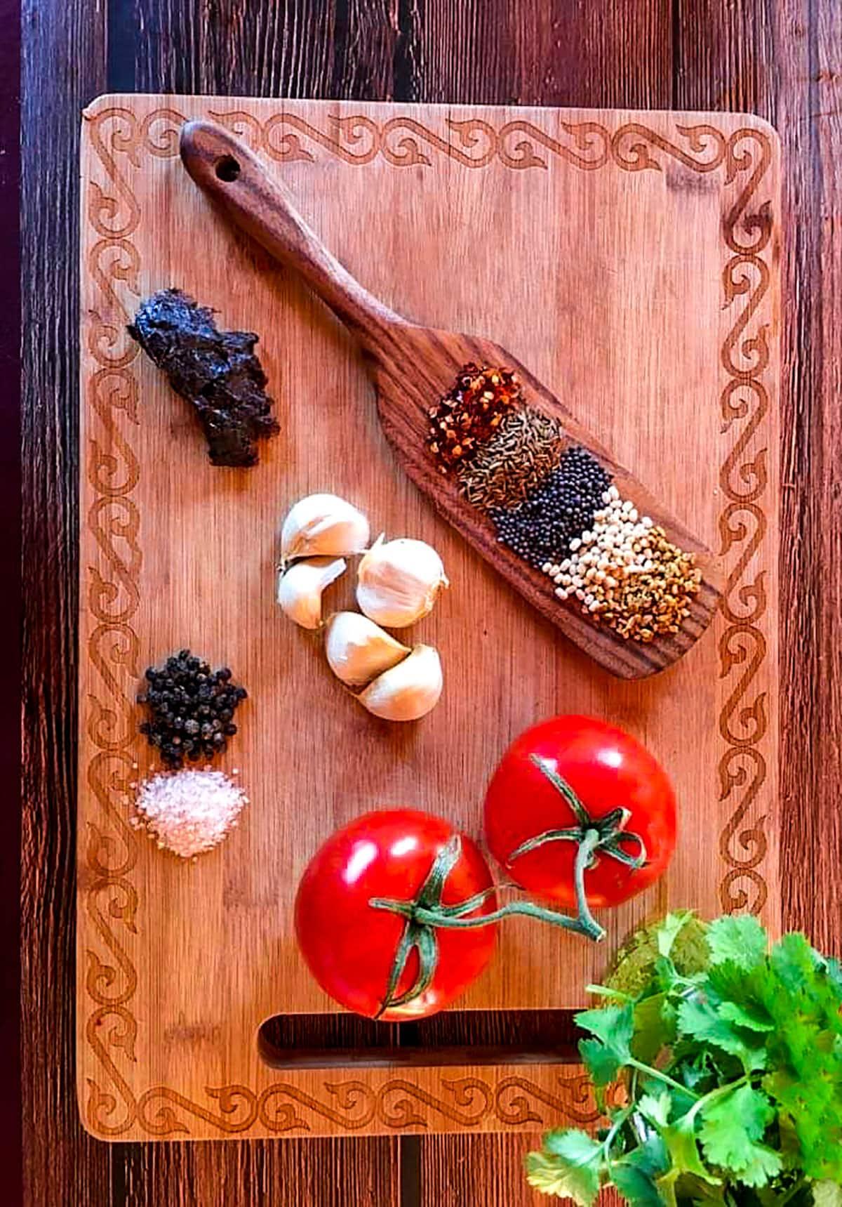 ingredients for tomato rasam