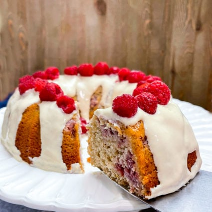 Vegan Lemon Raspberry Bundt Cake