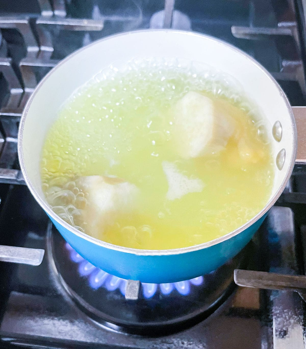 boiling sweet potato
