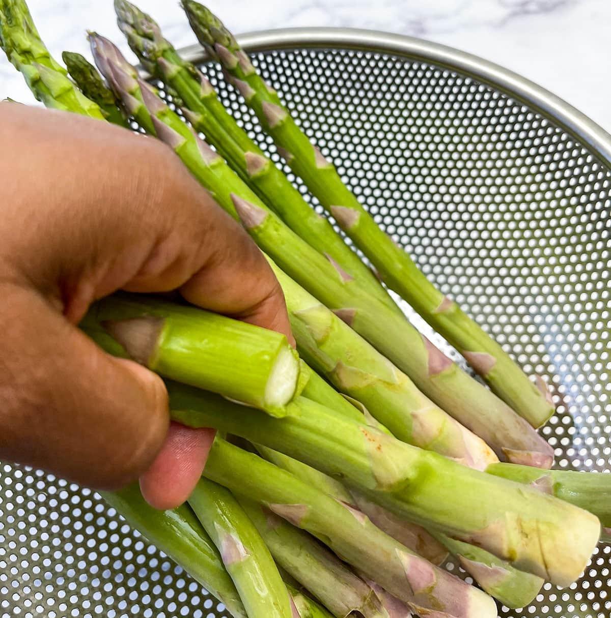 asparagus trimmed