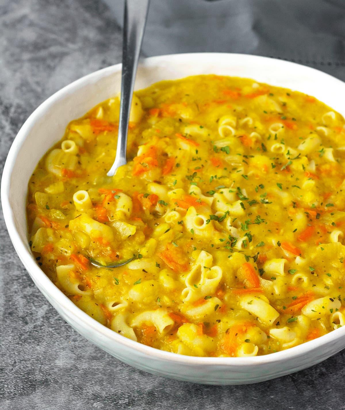 Instant pot red lentil soup