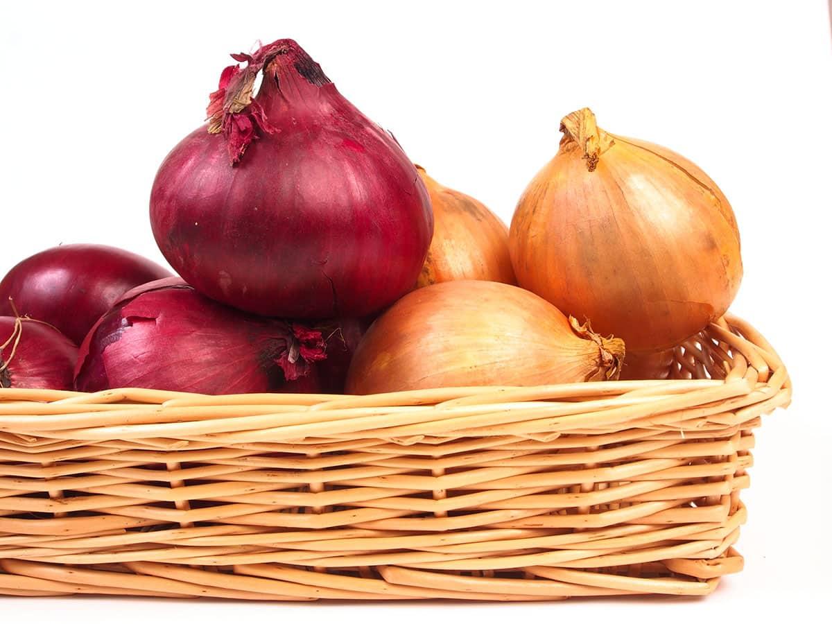 onions in basket