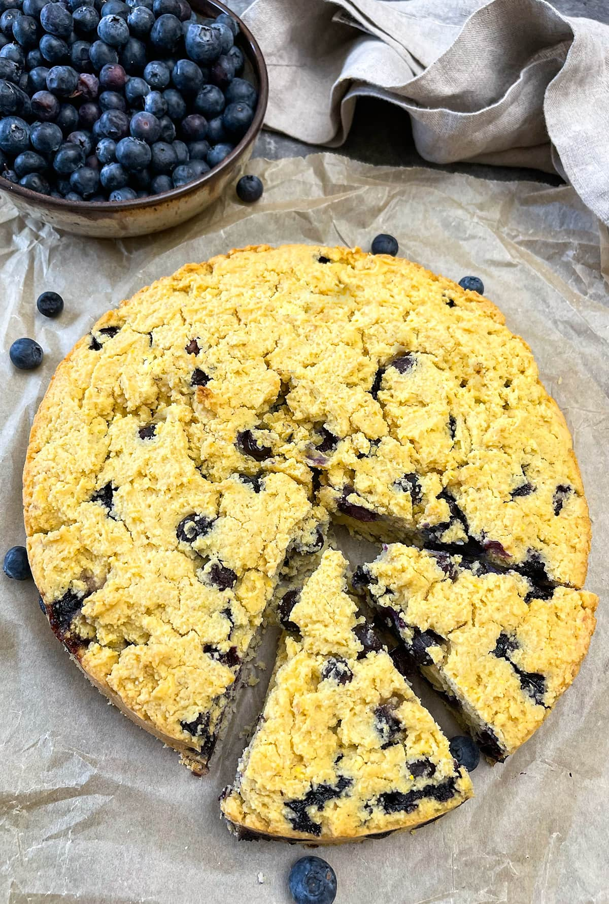 Vegan Blueberry Cornbread