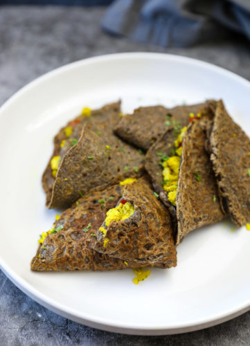 savory buckwheat crepe recipe