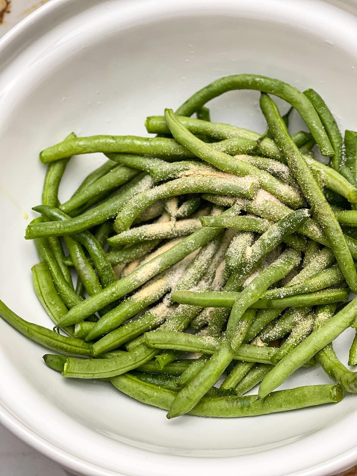seasoned green beans for air fryer