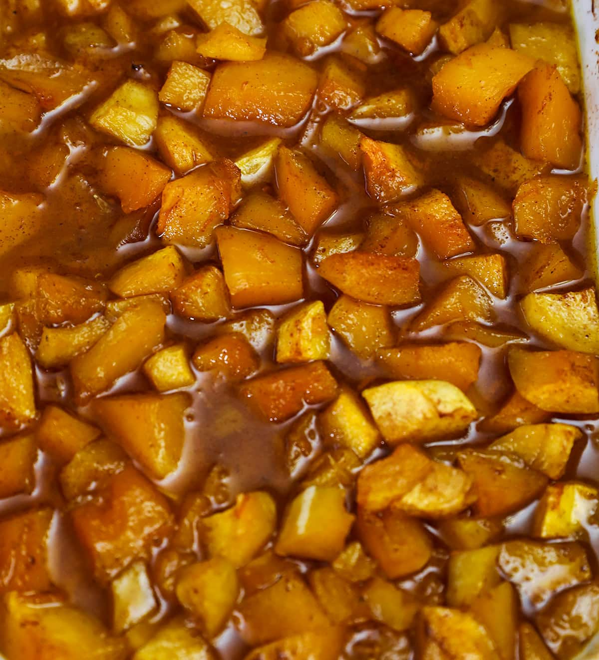close up of candied butternut squash