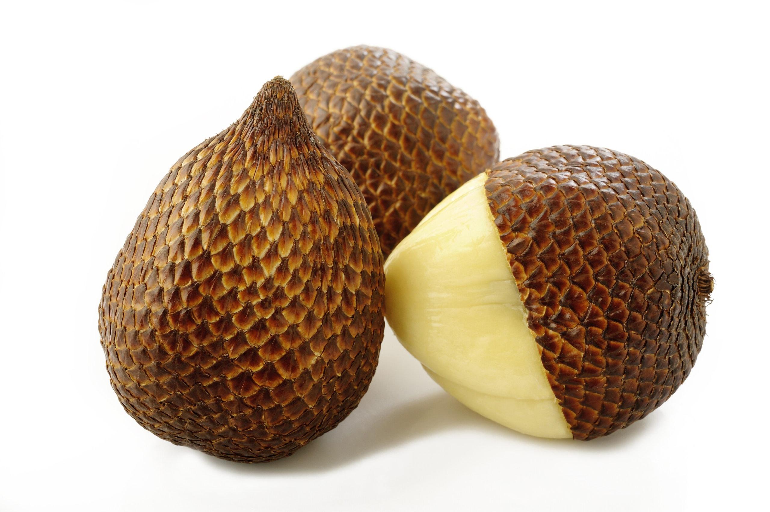 Salak fruits isolated on white background