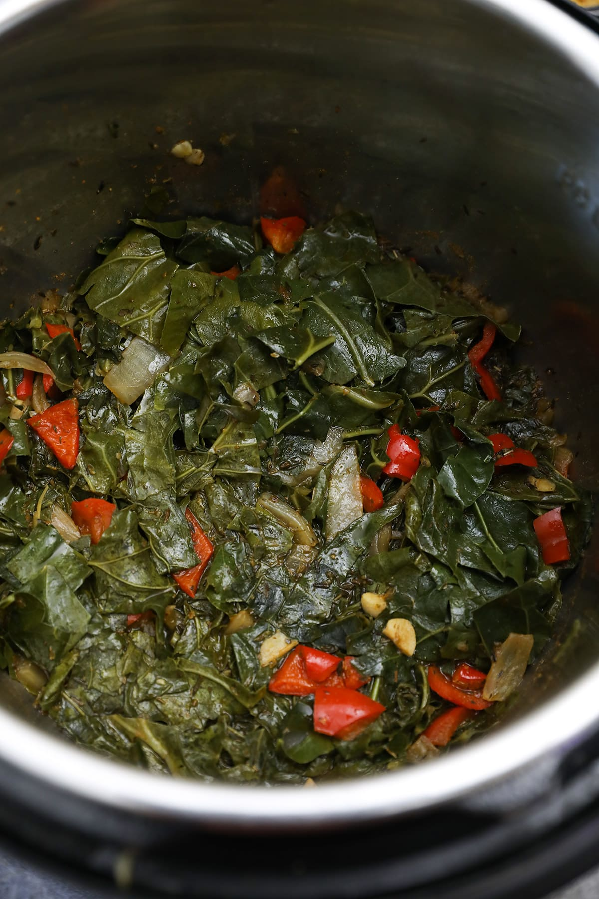 collard greens cooked in the instant pot