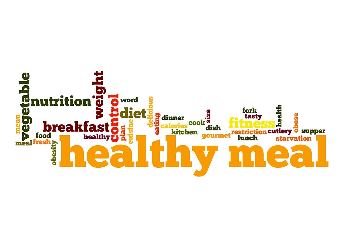 healthy meal plan graphic