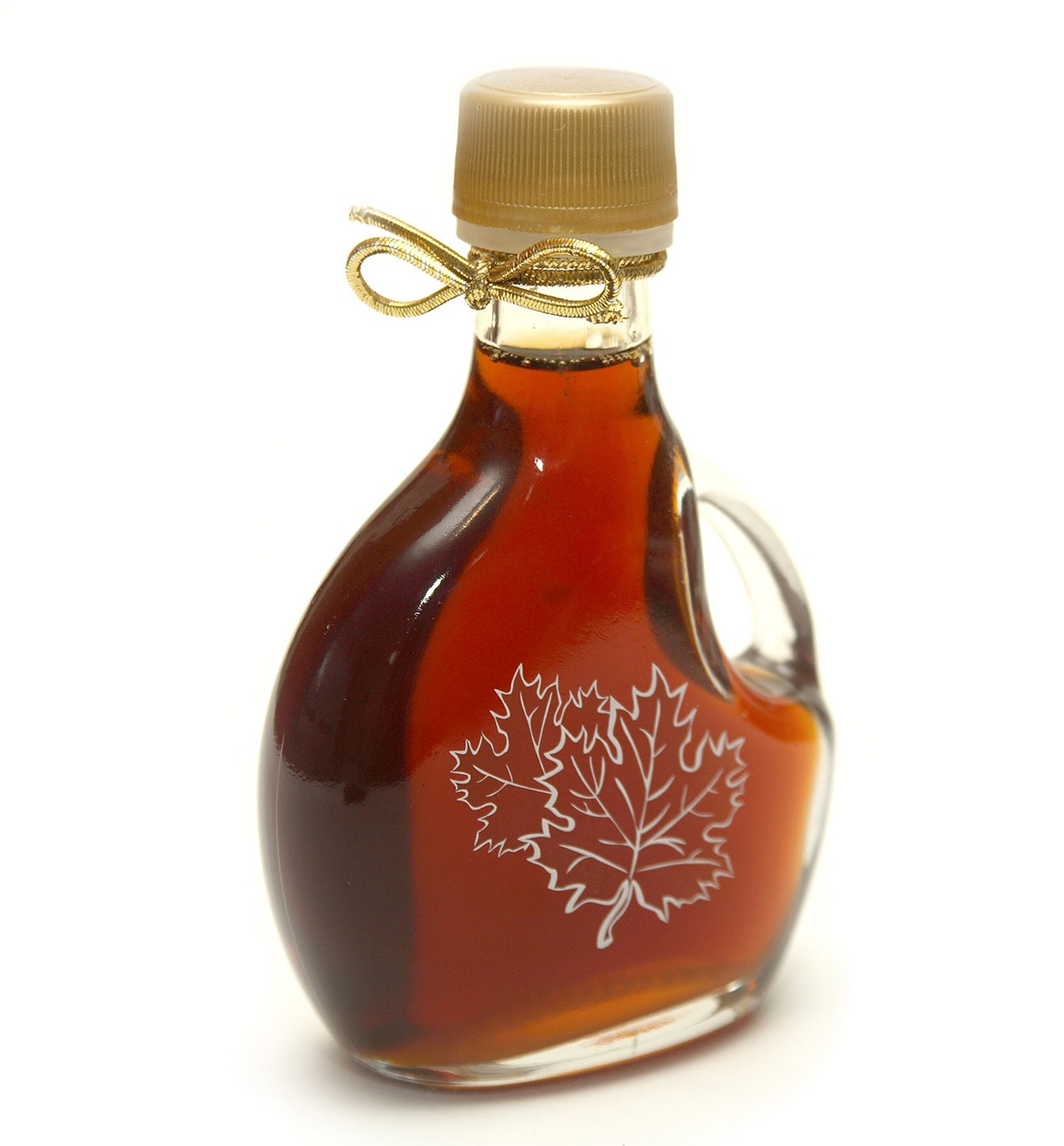 maple syrup on white background