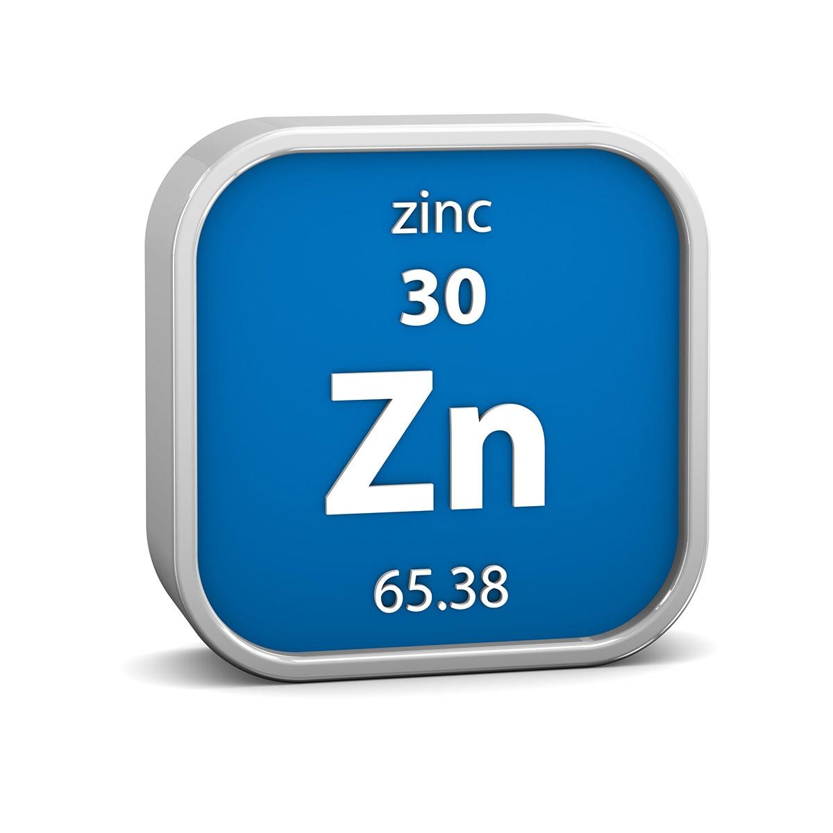 zinc material sign blue